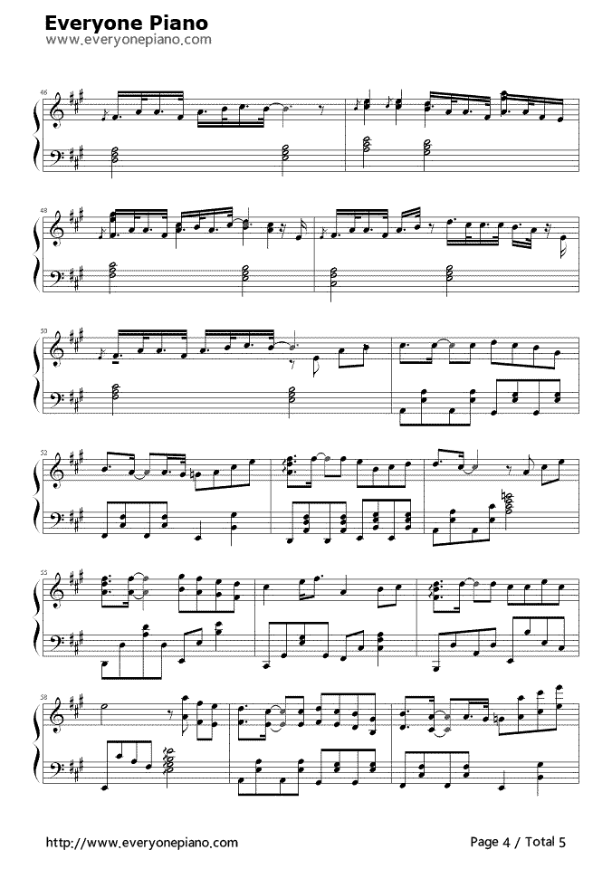 Still Loving You Stave Preview 4 Free Piano Sheet Music Piano Chords