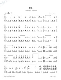 Wildflower-Numbered-Musical-Notation-Preview-1