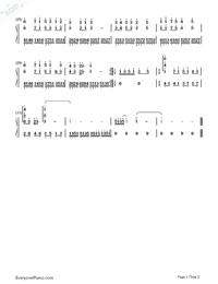 當我唱起這首歌雙手簡譜預覽2