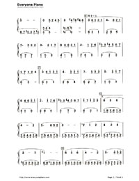A Forest Walk-Numbered-Musical-Notation-Preview-2