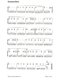 A Forest Walk-Numbered-Musical-Notation-Preview-3
