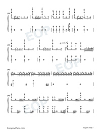 He's a Pirate-Pirates of the Caribbean Numbered Musical Notation Preview 4