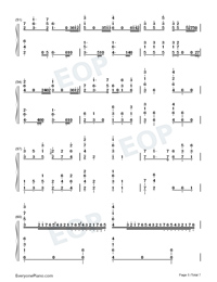He's a Pirate-Pirates of the Caribbean Numbered Musical Notation Preview 5