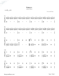 Romance-Forbidden Games OST-Numbered-Musical-Notation-Preview-1