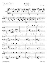 愛のロマンス五線譜プレビュー1