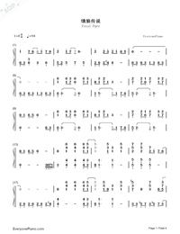 Fatal Fury-Numbered-Musical-Notation-Preview-1