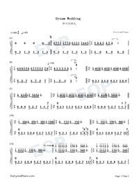 Dream Wedding-Richard Clayderman Numbered Musical Notation Preview 1