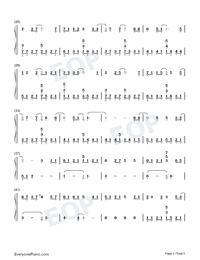 Drenched Numbered Musical Notation Preview 2