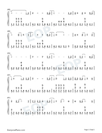 Drenched Numbered Musical Notation Preview 3
