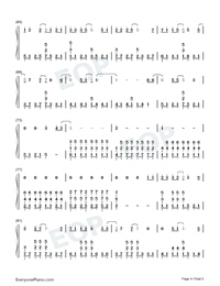 Drenched Numbered Musical Notation Preview 4