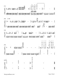 The Butterfly Lovers-Butterfly Lovers' Violin Concerto-Numbered-Musical-Notation-Preview-3