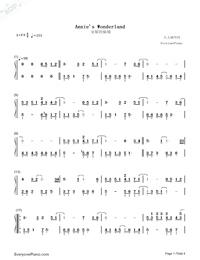 Annie's Wonderland-Numbered-Musical-Notation-Preview-1