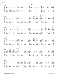 Annie's Wonderland-Numbered-Musical-Notation-Preview-3