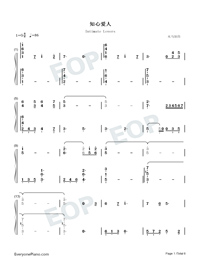Intimate Lovers-Numbered-Musical-Notation-Preview-1