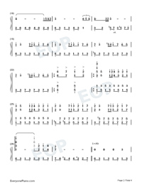 A Comme Amour Numbered Musical Notation Preview 2