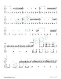 A Comme Amour Numbered Musical Notation Preview 3