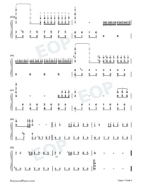 A Comme Amour Numbered Musical Notation Preview 4