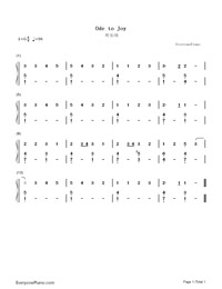 An die Freude-Ode to Joy-Numbered-Musical-Notation-Preview-1