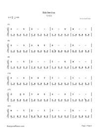 Edelweiss-Numbered-Musical-Notation-Preview-1
