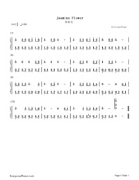 Jasmine Flower-EOP Demon Training Camp-Numbered-Musical-Notation-Preview-1