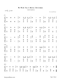 We Wish You A Merry Christmas-Numbered-Musical-Notation-Preview-1