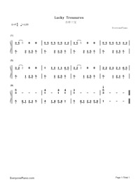 Lucky Treasures-Numbered-Musical-Notation-Preview-1