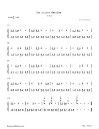 The Little Swallow Numbered Musical Notation Preview 1