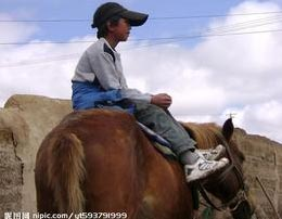 Naughty Kid on Horseback