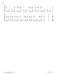 Little Sloppy Numbered Musical Notation Preview 2
