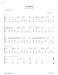 Calabash Brother-Numbered-Musical-Notation-Preview-1