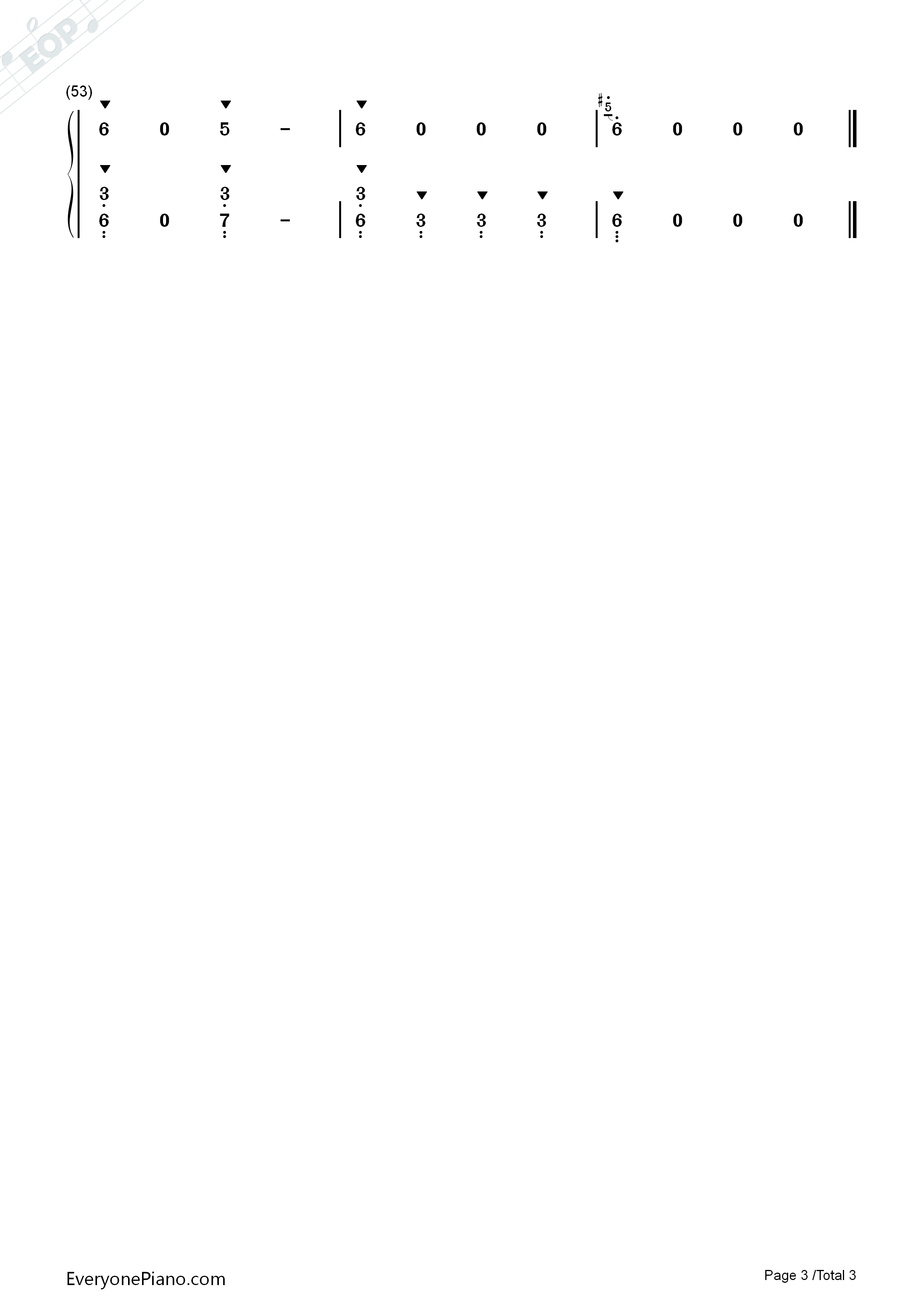 Song of The Little Smarter Numbered Musical Notation Preview 3