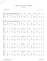 Song of The Little Smarter-Numbered-Musical-Notation-Preview-1