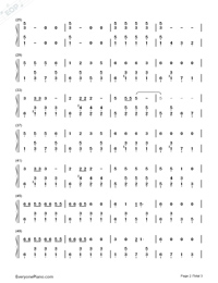 Song of The Little Smarter-Numbered-Musical-Notation-Preview-2