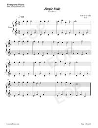 鈴兒響叮當-Jingle Bells五線譜預覽1