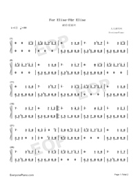 For Elise-Für Elise-simplified Version-Numbered-Musical-Notation-Preview-1