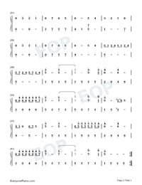 Ballade pour Adeline-Ballad for Adeline-Numbered-Musical-Notation-Preview-2