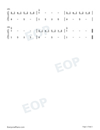 Ballade pour Adeline-Ballad for Adeline-Numbered-Musical-Notation-Preview-3