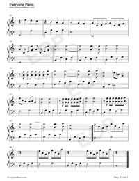 Ballade pour Adeline-Ballad for Adeline Stave Preview 2