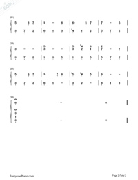 Greensleeves Numbered Musical Notation Preview 2