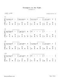 Strangers in the Night-Numbered-Musical-Notation-Preview-1
