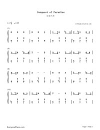 Conquest of paradise sheet music for piano download free in pdf or.