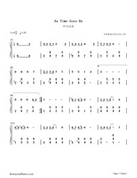 As Time Goes By-Numbered-Musical-Notation-Preview-1