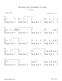 The Deep Love Friendship Is Long-Numbered-Musical-Notation-Preview-1