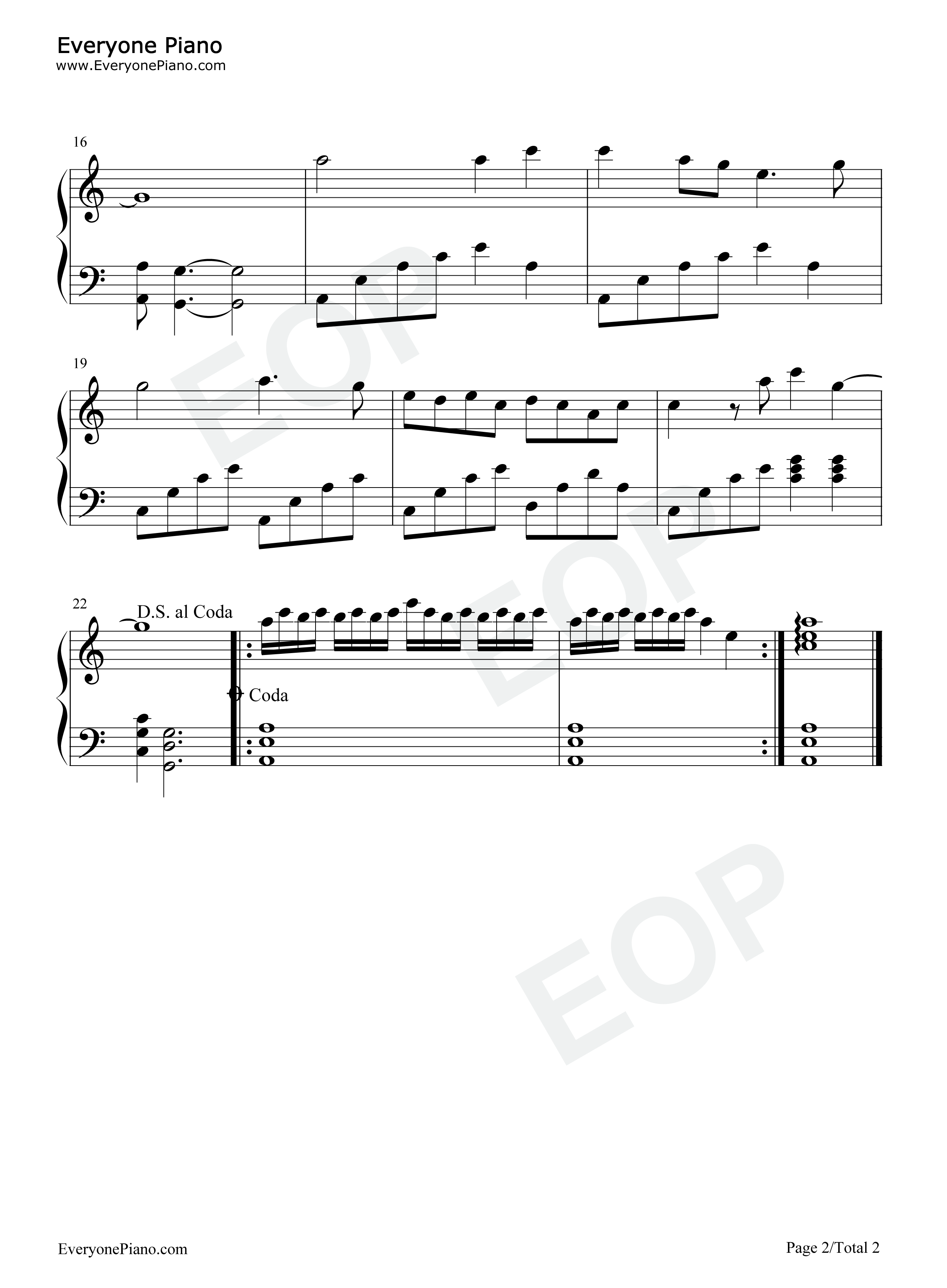 Rhythm of the Wave-Hai yun-Teresa Teng Stave Preview -EOP