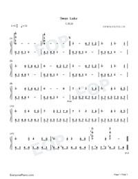 Swan Lake Free Piano Sheet Music & Piano Chords