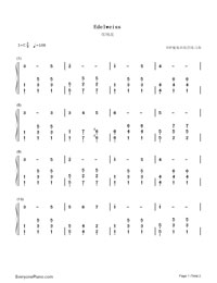 Edelweiss-EOP Demon Training Camp-Numbered-Musical-Notation-Preview-1