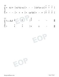 Minuet 2-Johann Sebastian Bach-Numbered-Musical-Notation-Preview-2