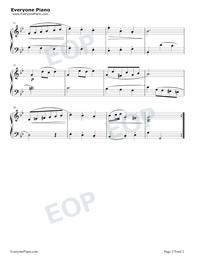 Minuet 2-Johann Sebastian Bach Stave Preview 2