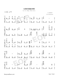 Let Us Sway Twin Oars-Flowers of the Motherland-Numbered-Musical-Notation-Preview-1