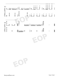 Let Us Sway Twin Oars-Flowers of the Motherland-Numbered-Musical-Notation-Preview-3